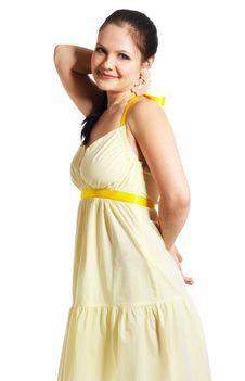 Free Girl In Yellow Dress Stock Photos - 8526653