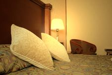 Free Lamp On The Table Near The Bed Royalty Free Stock Photos - 8526838