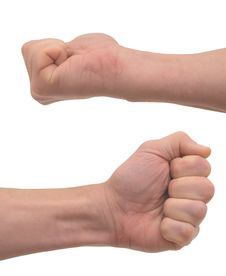 Free Man S Fist Stock Photos - 8526913