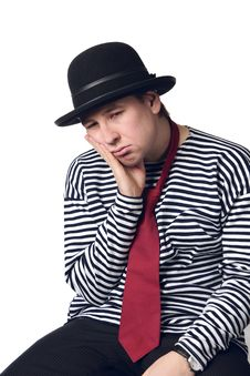 Free Tired And Depressed Mime Stock Photo - 8526990