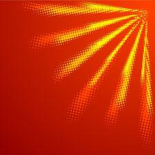 Free Halftone Sun. Stock Image - 8527021