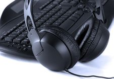Free Close Up Of Keyboard And Headphones Stock Image - 8527081