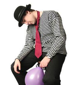 Free Sleepy Mime Isolated On White Stock Images - 8527134
