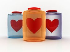 Free Hearts In Bottles Stock Photography - 8527522