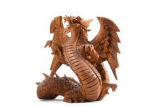 Wooden Dragon Stock Photo