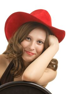 Fashion-monger In A Beautiful Hat Stock Images