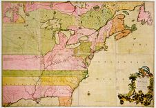 Antique Map Of North America Royalty Free Stock Photography