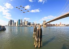 The Downtown Manhattan Skyline Stock Image