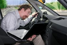Free Driver Using GPS Laptop Stock Photography - 8529242