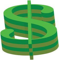 Free Dollar Sign Green And Yellow Royalty Free Stock Photos - 8529388