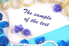 Background With Pearls And Colors Royalty Free Stock Image