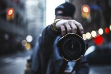 Free Photographer In Mirror Stock Photography - 85209042