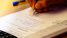 Free Signing Document Stock Photography - 85218332