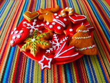 Free Handmade Christmas Cookies Royalty Free Stock Images - 85291649