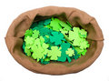 Free Craft Shamrocks On White Royalty Free Stock Photo - 8530555