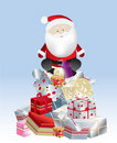 Free Santa Present Stack Day Stock Photos - 8537483