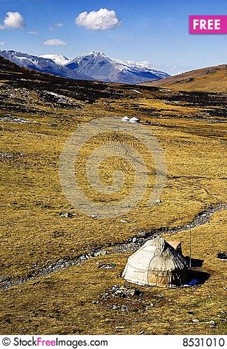 Yurts Stock Photo