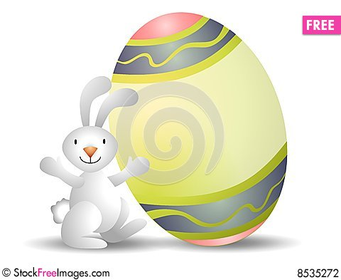 Free Easter Bunny Easter Egg Stock Photography - 8535272