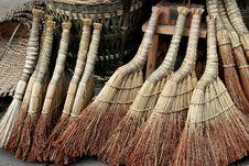 Free Pengzhou, China: Straw Brooms Stock Image - 8531211