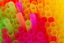 Colored Drinking Straws Stock Photo