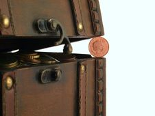 Free One Penny. Royalty Free Stock Photos - 8532308