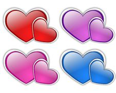 Free Glass Hearts Vector Royalty Free Stock Images - 8532499