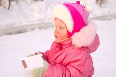 Free Pretty Little Girl With Candy Box. Stock Photography - 8532722