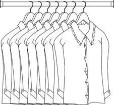 Free Dress In Rod Hanger Royalty Free Stock Photo - 8532905