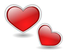 Free Glass Hearts Vector 2 Stock Image - 8533041