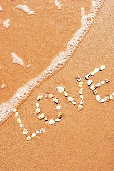 Free Love Sea Sand Stock Photography - 8533372