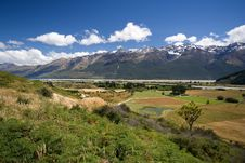 Beautiful Valley Landscape Stock Image