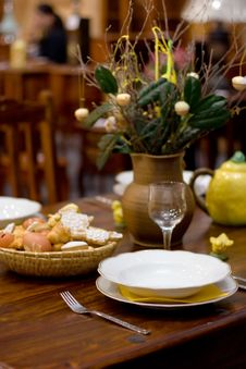 Easter Table Stock Image