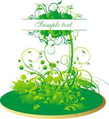 Free The Stylised Plant Royalty Free Stock Image - 8534526