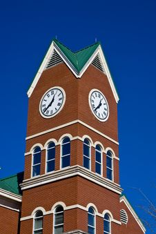 Free Clock Tower On Blue Stock Photos - 8534843