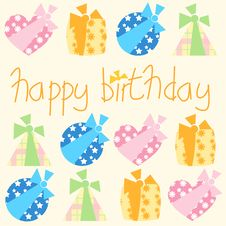 Free Happy Birthday Gifts Royalty Free Stock Photo - 8534855