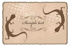 Free Torn Paper Frame With Lizards Stock Images - 8535254