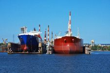 Free Container Ship In Dock Stock Photo - 8535410