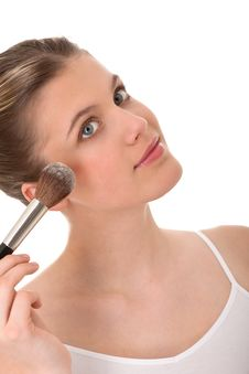 Free Body Care - Young Woman Doing Make-up Royalty Free Stock Photo - 8535445