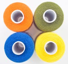 Free Four Sewing Spools Royalty Free Stock Image - 8535676