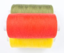 Free Three Sewing Spools Stock Photos - 8535683