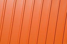 Free Corrugated Orange Panel Royalty Free Stock Photography - 8535807