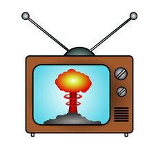 Free TV And Atomic Mushroom Royalty Free Stock Images - 8536059