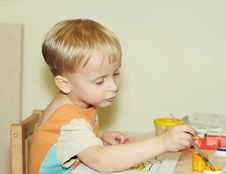 Free Painting Boy Stock Images - 8536424