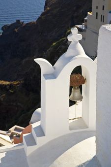 Free A Greek Church Bell, Santorini, Greece Royalty Free Stock Images - 8536449
