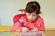 Free Girl Drawing Stock Images - 8536644
