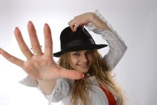 Beautiful Girl With Hat Royalty Free Stock Image