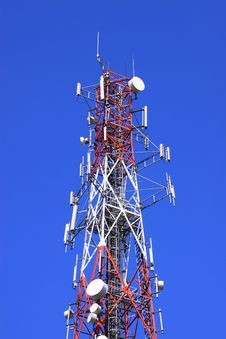 Free COMMUNICATION TOWER Royalty Free Stock Photos - 8537138