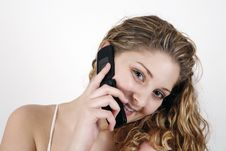 Free Girl Talking Over Cell Phone Royalty Free Stock Photos - 8537298