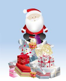 Free Santa Present Stack Day Stock Photos - 8537483