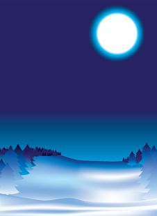 Snow Night Background Stock Photo